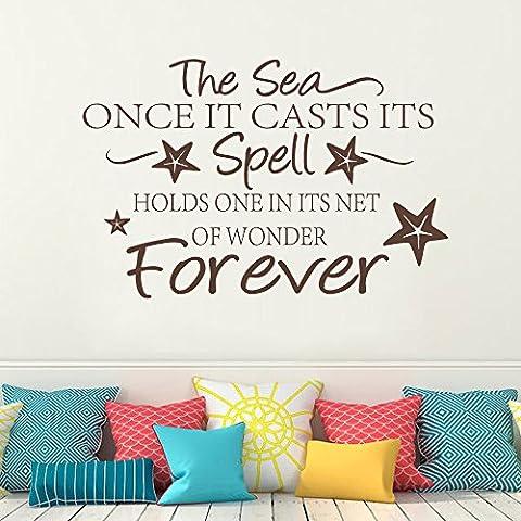 Mare spiaggia–L' Incantesimo Mare Forever–in vinile parole citazioni decalcomanie parete
