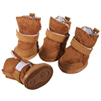 Brown Suede Dog Boots - 5 Sizes