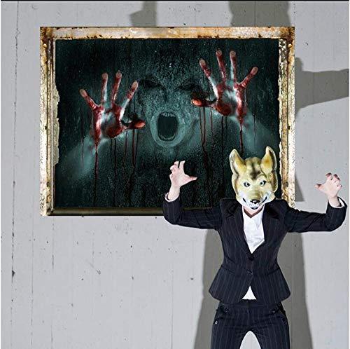 Stereoskopische 3D gebrochen Zombie Wand Aufkleber Sticker Halloween Ghost 45 * 60cm ()
