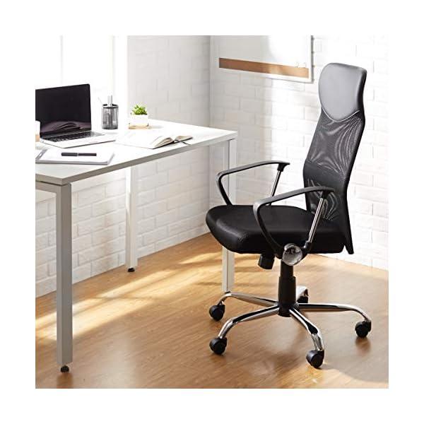 AmazonBasics Silla Giratoria de Oficina con Altura Ajustable, Black, 63 x 60.5 x 109.5 cm