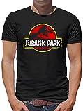 Touchlines Merchandise Jurassic Park Distressed Logo T-Shirt Herren