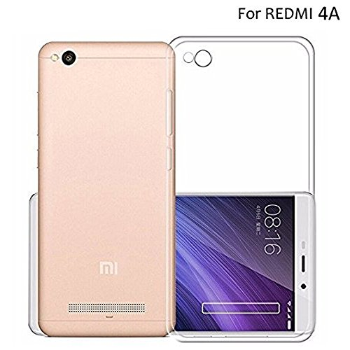 SDO™ Premium Soft Silicone Transparent Style Shockproof Jelly Back Case Cover For Xiaomi REDMI 4A (Clear Transparent)  available at amazon for Rs.88