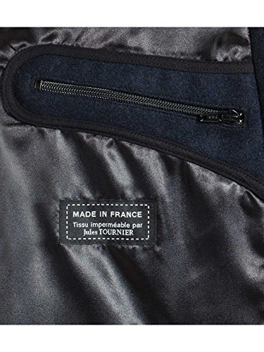 Caban Homme en laine Made in France DALMARD MARINE Oslo Bleu