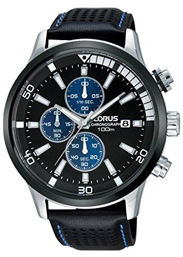 Lorus Watches RM369CX9 - Reloj de pulsera deportivo para hombre, con cronógrafo, correa de cuero, de cuarzo