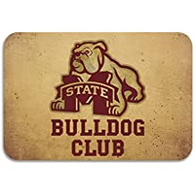 sarht Mississippi State University MSU Bulldogs Logo antideslizante Felpudo