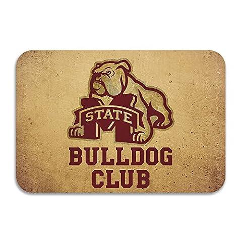 Sarht Mississippi State University Msu Bulldogs Logo antidérapant Paillasson