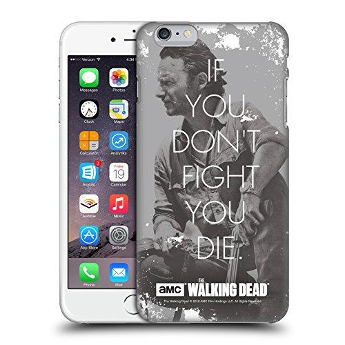 Officiel AMC The Walking Dead Combat De Rick Citations Étui Coque D'Arrière Rigide Pour Apple iPhone 6 Plus / 6s Plus, Coques iphone