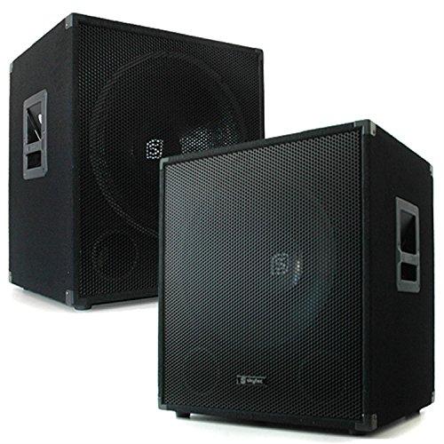 1200W Paar Skytec 38cm (15 Zoll) Subwoofer 2x Bassbox Profi PA Lautsprecher (20 - 500 Hz, 8 Ohm)