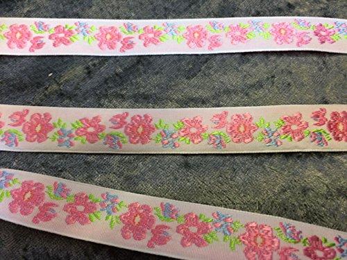 Geprägt Zöpfe, Pink Flowers