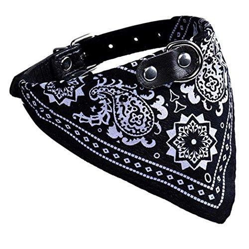 collier-chien-reglable-puppy-chat-neck-scarf-bandana-collier-foulard-4520cm-noir