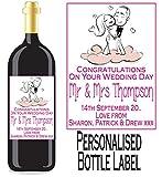 Eternal Design Personalisiertes Flaschenetikett Hochzeit Tag Wein/Spirit wdwl 25