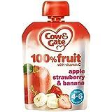 Vache & Portail Pomme, Fraise Et La Banane À 100% De Fruits Avec De La Vitamine C À Partir De 4-6 Mois 80G