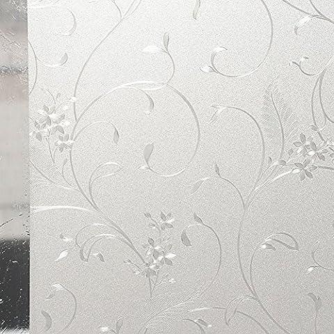Hxss Film Static Film E verre Autocollant En PVC Transparent Et Autocollants Décoratifs Pour Windows Et Porte (Intimité Protection, anti UV)