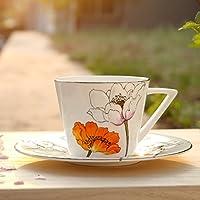 YX.LLA Continental Cup di tazze da caffè Kit Bone China Tazza da caffè Creative Kit Tazza da caffè Tazza da caffè,Bisque