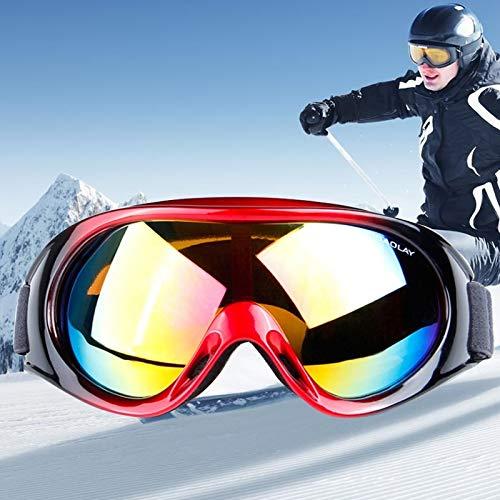 Duhongmei123 Mode Brillen H1010 Unisex Dual Layers Anti-Fog Windschutz UV-Schutz Sphärische Schutzbrille mit verstellbarem aufgeweitetem Riemen Occhiali (Artikelnummer : Og5226r)