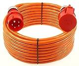 netbote24® CEE Starkstromkabel Verlängerungskabel 16A 400V Pur-Leitung mit Phasenwender H07BQ-F 5g2,5 Außen 5m