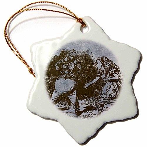 �_ 1Alice im Wunderland Figuren tweedledum Dee und Dum vintage-snowflake Ornament, Porzellan, 3Zoll (Dum Dum Baum)