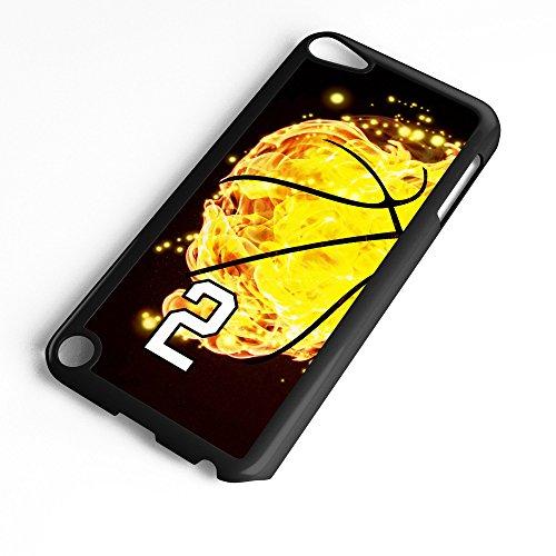 TYD Designs Schutzhülle für iPod Touch 6. Generation / 5. Generation, Basketball #8000, aus Kunststoff, Schwarz, Number 02, schwarz (Ipod 5. Generation Case Gelb)