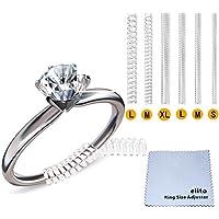 Anillo reductores Tamaño Ajustador (Juego de 4 tamaños), Accesorios para hacer bisutería, anillo sizer con plata gamuza(1.2mm/2mm/3mm/4mm)