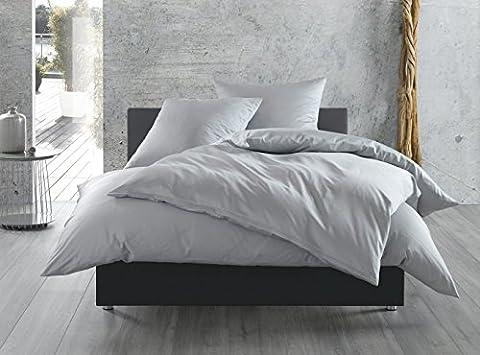 Mako-Satin Baumwollsatin Bettwäsche uni einfarbig zum Kombinieren (140 cm x