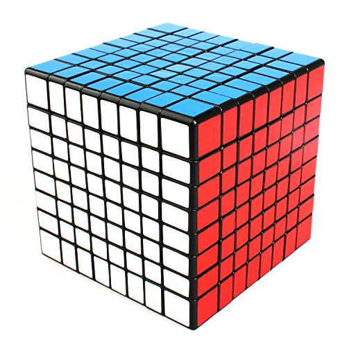 EASYTAR 8x8x8 Ultra-smooth Professional Speed Cube Puzzle, Black - 8 Cube