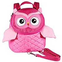 EDATOFLY 2019 New Owl Toddler Backpack Anti-Lost Child Bag Baby Backpacks with Reins for 1-5 Years Kids