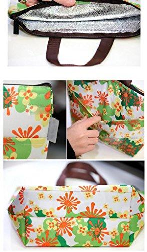 BZLine® Frauen Leinwand Paket Portable wasserdichte Mittagessen Taschen G