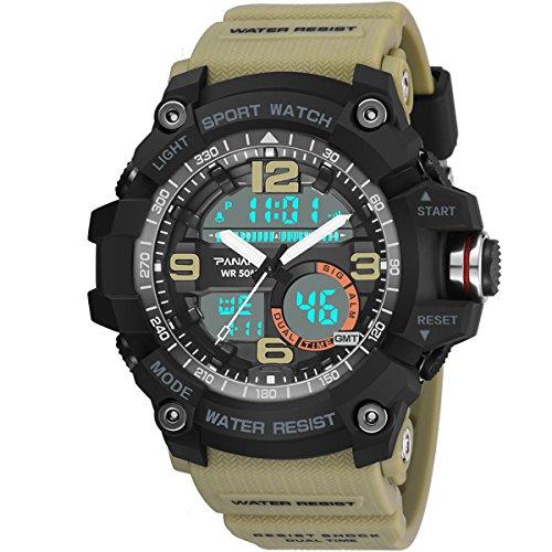 Yxx max Herren Uhren Sale Herren Digital Sportuhr Quarzuhr Outdoor Sports Watch Uhr und Wasserdicht Lässig Leuchtende Stoppuhr (Farbe : 1#)
