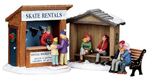 Lemax - Skate Rentals - 3er Set Skiverleih - Weihnachtsdorf Zubehör - Christmas Village -