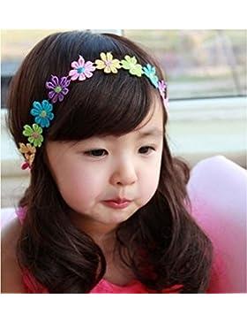 Bebé niñas mariposa infantil de princesa flores pétalos diadema pelo banda accesorios estilos al azar