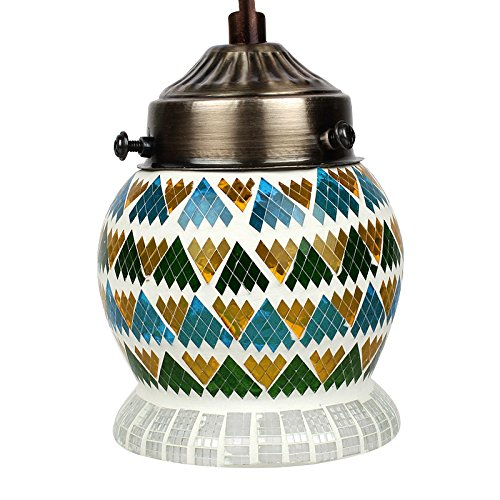 EarthenMetal Handcrafted Multicoloured Mosaic Hanging Light