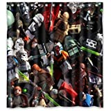 """MOMO Lego Star Wars Waterproof Bathroom Bath Polyester Shower Curtain Standard Size 66""""(W) X 72""""(H)"""