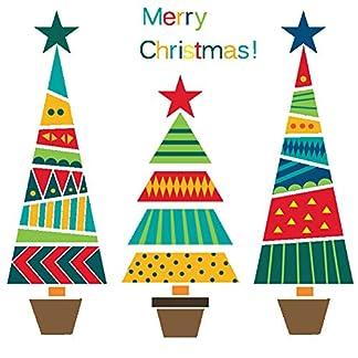Ruikey Etiqueta de la Pared del árbol de Navidad Vinilo Pegatinas Decorativas etiqueta de la ventana de navidad Arbol de Navidad Decoración 25 * 70cm