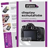 dipos I 6X Schutzfolie klar passend für Canon EOS 80D Folie Displayschutzfolie