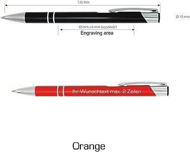 grau Schlanker Kugelschreiber mit Gravur aus Metall Farbe