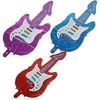 NIU MANG 3 Pcs Cartoon Guitar Saxophone Foil Balloons Music Theme Party Supplies Toys