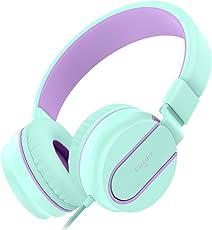 Kinder Kopfhörer, Elecder i36 Kopfhörer für Kinder, Teens, Erwachsene, Laufen, Leichtes Faltbares Justierbares Telefon Steuerung über Ohr Kopfhörer für Handys Computer MP3/4, Grün