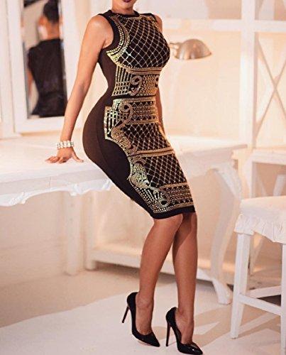 Vimans -  Vestito  - fasciante - Donna Gold
