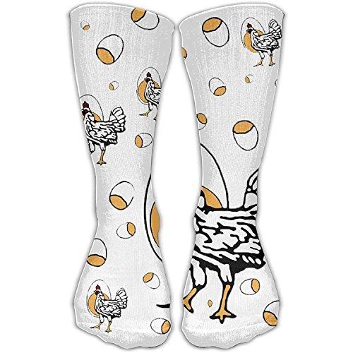 Benutzerdefinierte lustige Strümpfe Design Roseannes Huhn stilvolle Kunst für Mädchen Jungen Knie lange Socken Reisen atmungsaktiv (Vans Lace-designs Für Coole)