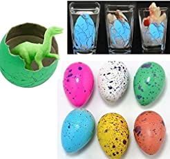 SN Toy Zone Super High Quality Miniature Growing Dinosaur Eggs - Pack of 6+4 Free(Magic Eggs)(Eggs Size: 3Cms... Growing Dino Size Approx: 2.5 to 3.5 Cms)