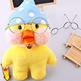 #1: Plush Figure Toys Duck Stuffed Animal Lalafanfan Cafe Mimi The Internet Star Mini Yellow Duck Pink Cheek Great For Christmas Gift Birthday Gift By KARP