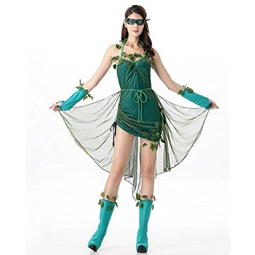 Elfe Kostüm Die (Costour Frauen Grüne Elfe Aufführung Kostüm Baum Elfe Kostüm Milchseide)