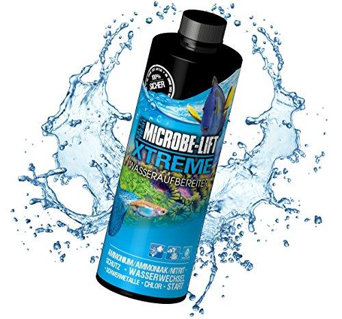 MICROBE-LIFT Xtreme - Wasseraufbereiter (macht Leitungswasser sicher und fischgerecht, zum Einsatz in jedem Meerwasser und Süßwasser Aquarium) 473 ml