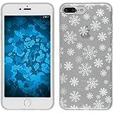 PhoneNatic Case für Apple iPhone 8 Plus Silikon-Hülle X Mas Weihnachten M2 Case iPhone 8 Plus Tasche + 2 Schutzfolien