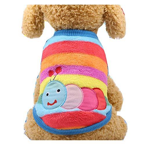 ZTMN Haustier Katze Hund Kleidung Kostüm Shirt, Kätzchen Puppy Jumper Pullover Kostüme Hund Korallen Fleece Tuch Sweatshirts, Adorable tragen stilvolle gemütliche (Farbe: Caterpillar, Größe: XL)