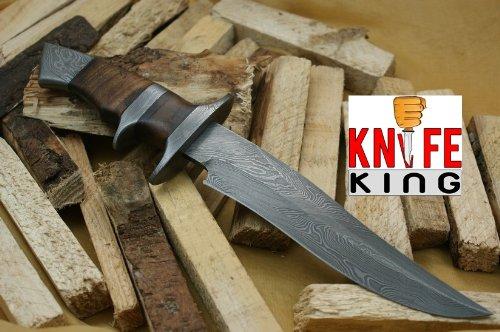 Custom Damast Bowie Messer Jagdmesser Mit Lederscheide
