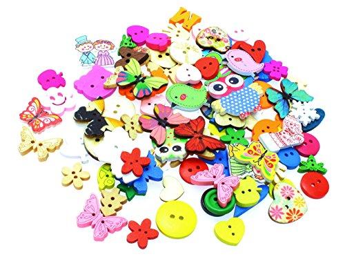 Mezclados botones de animales, flores, corazones, etc. (Pack de 50)