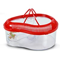 Foodie Puppies Turtle House Reptile Carrier with Cover and Handle - Medium (Color May Vary)