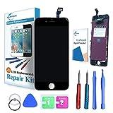 ER-ESTAVEL Vitre Tactile LCD pour iPhone 6 Noir Réparationn Ecran inclus Gratuit Outils(4,7')