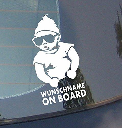 Wunschname on board - Kappe Car Baby Sticker Kinder an Bord Aufkleber Name Baby Auto Aufkleber Wandaufkleber Wandsticker Wandtattoo
